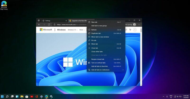 Microsoft Edge new dark mode