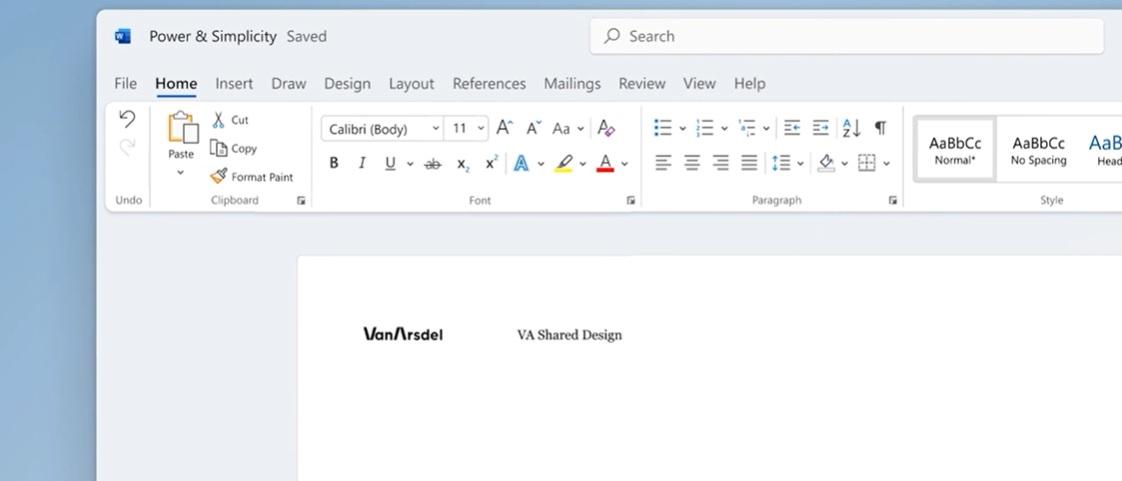 Microsoft Word design