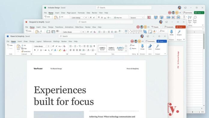 Windows 11 Office app redesign