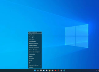 Windows 11 WinX menu