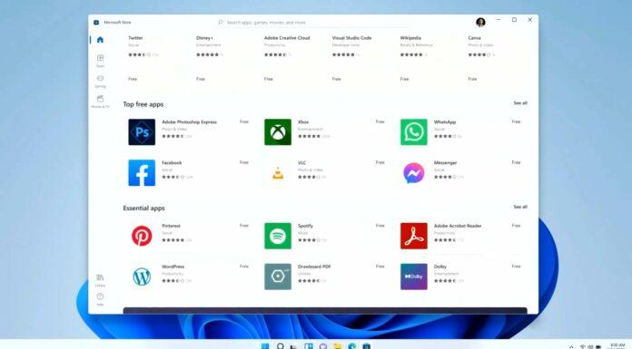 Windows 11 app store update