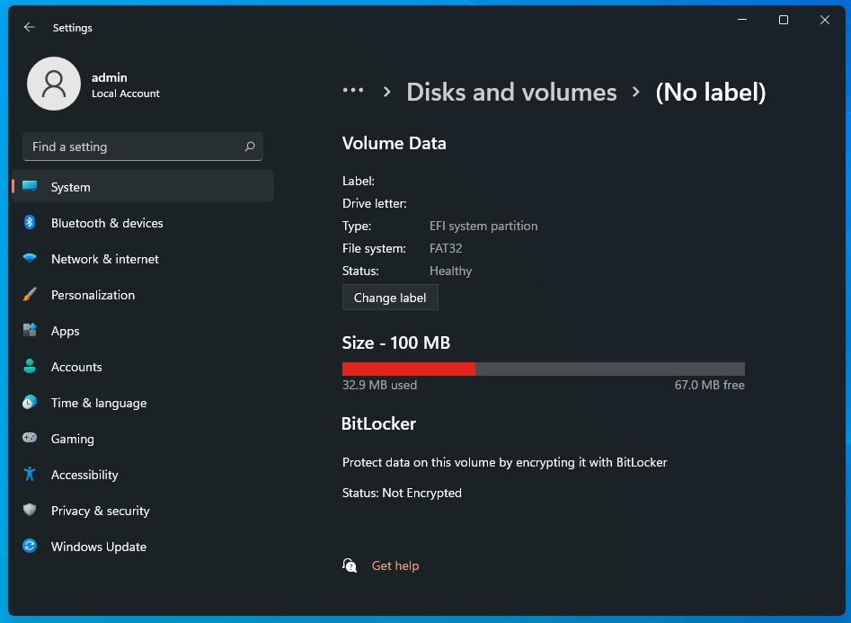 Windows 11 modern disk management