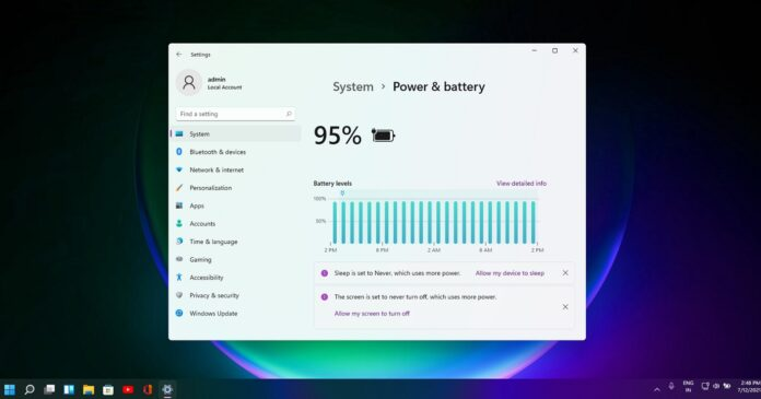 Windows 11 power settings