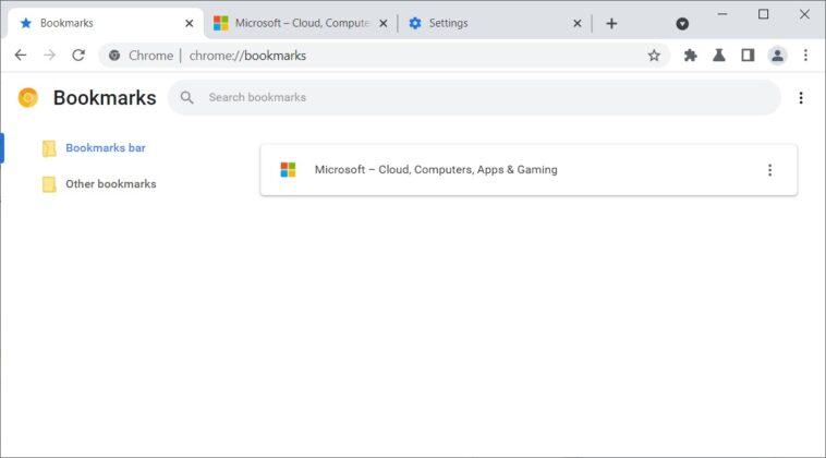 Chrome bookmarks new UI