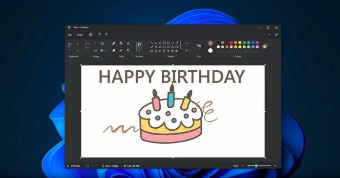 MS Paint for Windows 11 design