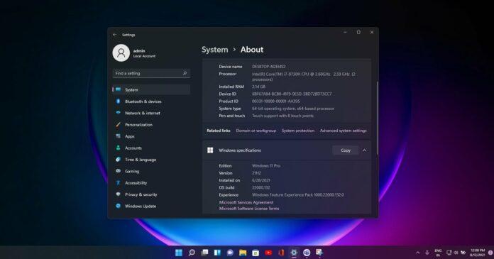 Windows 11 Build 22000.132