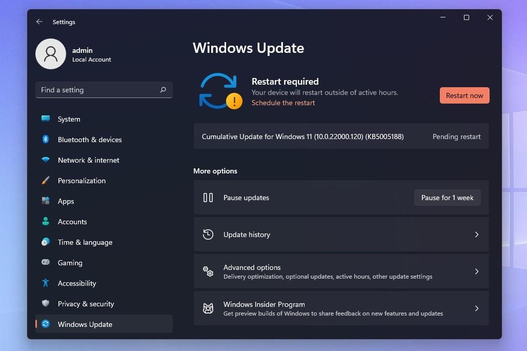 Windows 11 KB5005188