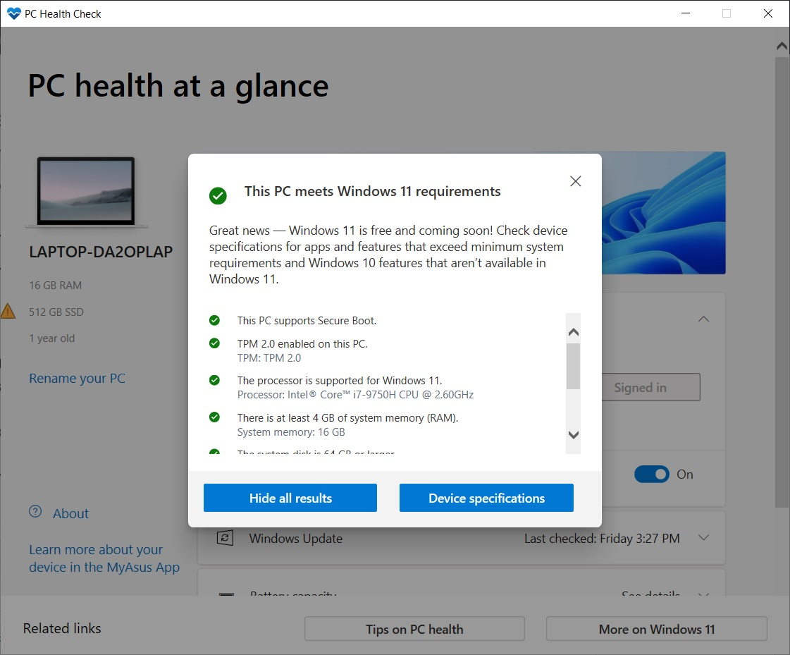 Windows 11 compatibility test