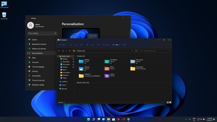 Windows 11 rounded corners update