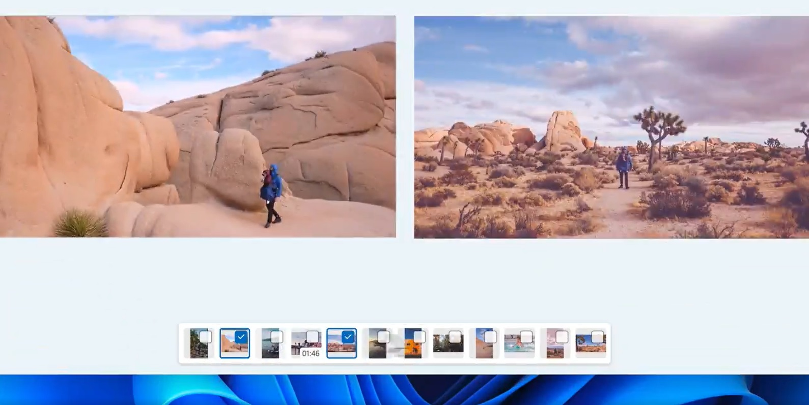 Photos app timeline feature