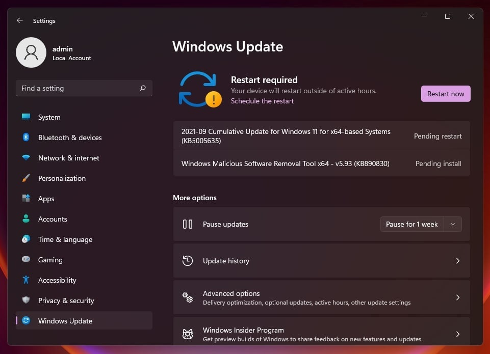 Windows 11 KB5005635