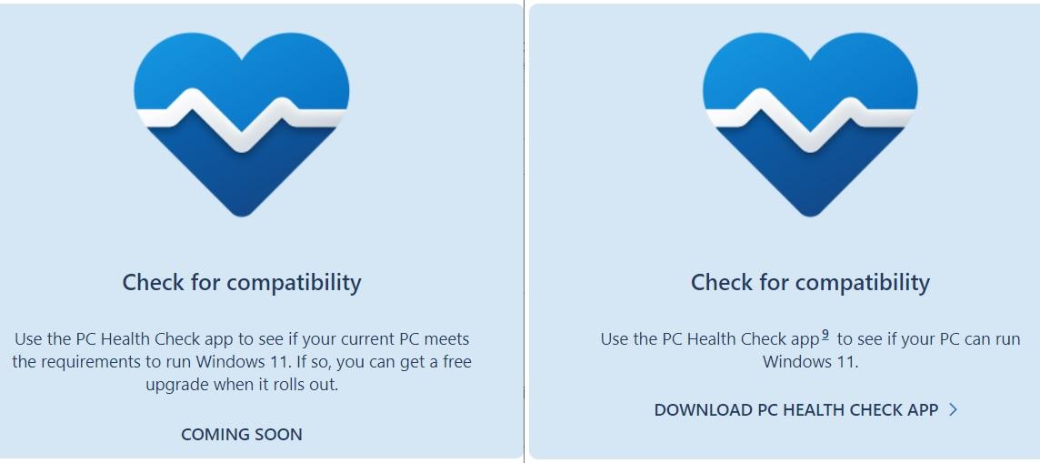 Windows 11 PC Health Check released