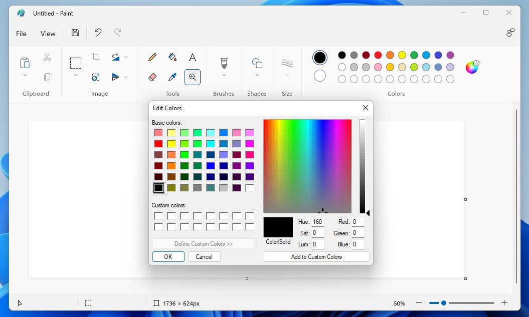 Paint colour picker